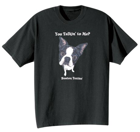 Dog Breed Tee- Boston Terrier