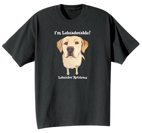 Dog Breed Tee- Yellow Labrador