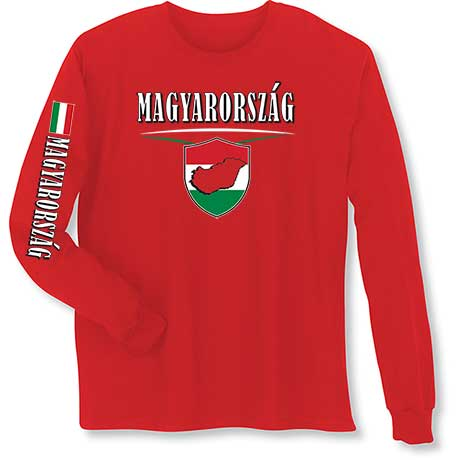 International Long Sleeve T-Shirt- Magyarorszag (Hungry)