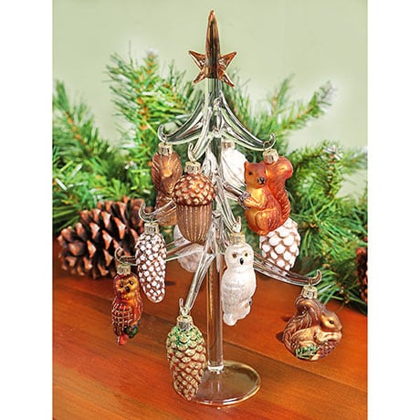 Woodland Glass Ornament Tree