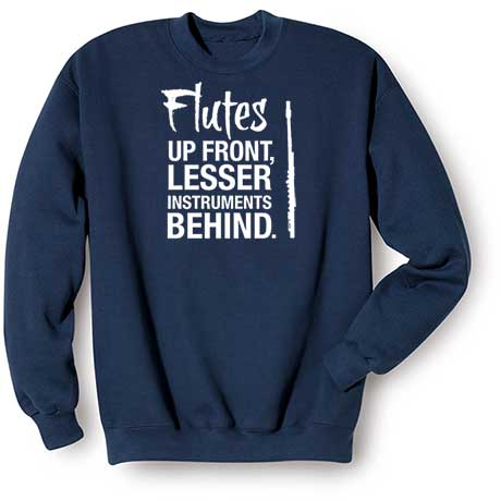 Music Instruction Sweatshirt- Flutes