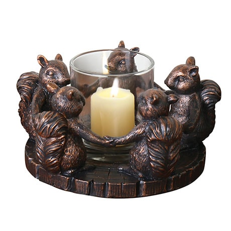 Circle Of Squirrel Friends Votive Holder