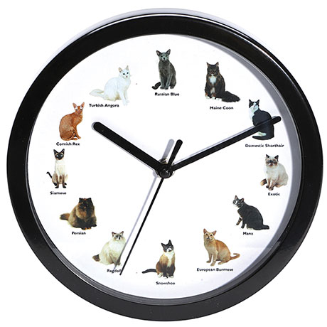 Meowing Cat Clock