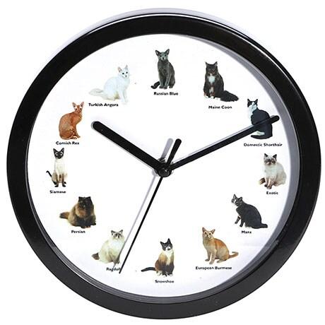 Meowing Cat Clock
