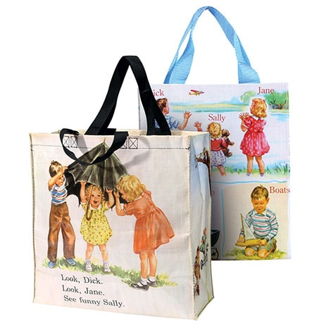 Dick & Jane Lunch Bag and Tote Set Recycled Materials