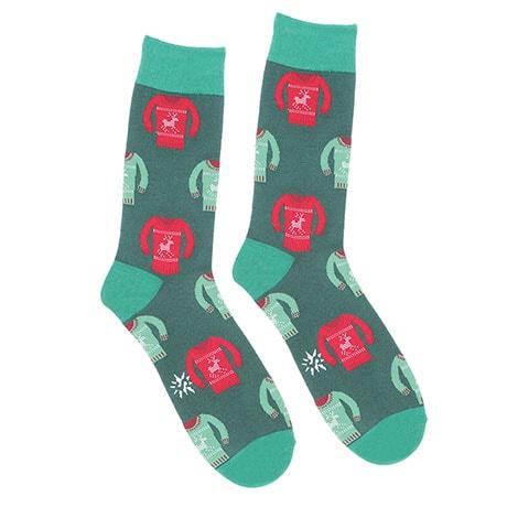 Holiday Men's Tacky Holiday Sweater Socks