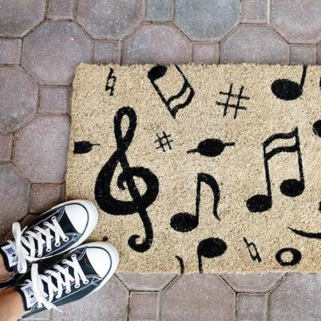 Musical Notes Coir Doormat