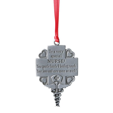 Pewter Nurse Occupational Ornament