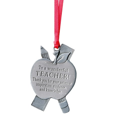 Pewter Teacher Occupational Ornament