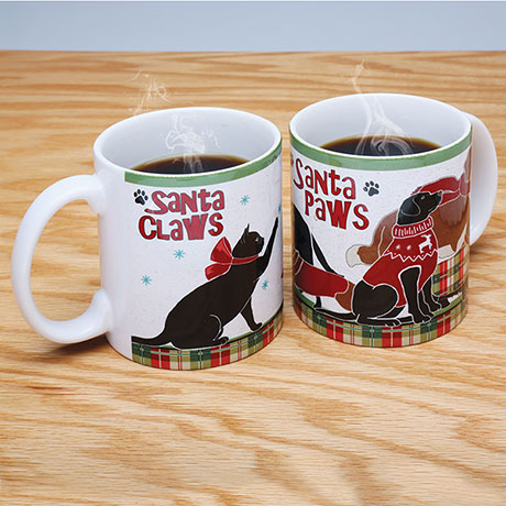 Santa Claws Pets Holiday Mugs