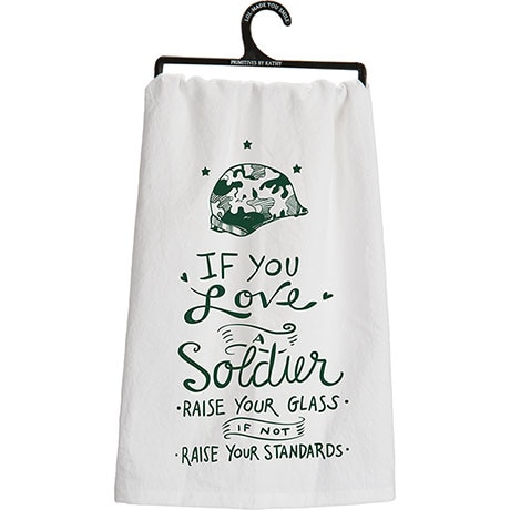 Military Flour Sack Kitchen Towel- Soldier (Army)