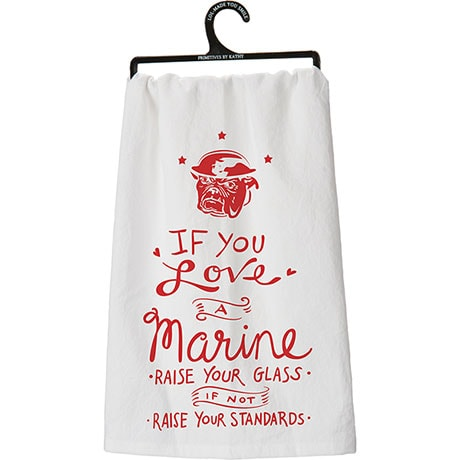 Military Flour Sack Kitchen Towel- Marine (Usmc)