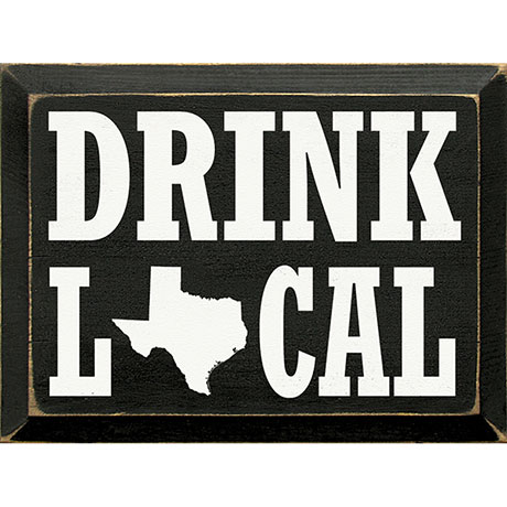 Drink Local Personalized Wall Plaque