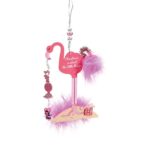 Fancy Flamingo Christmas Ornament Set of 2