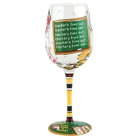 Hand Painted Appreciation Wine Glasses- Teacher