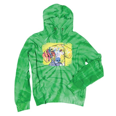 Tie Dye Dachshund Hooded Sweatshirt