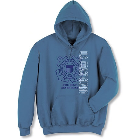 Military Coast Guard Hooded Sweatshirt