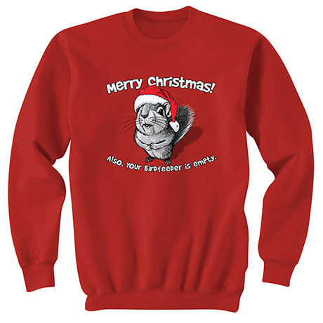 Merry Christmas Squirrel Sweatshirt