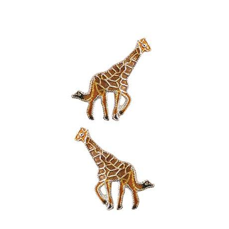 Sterling Silver Safari Giraffe Earring