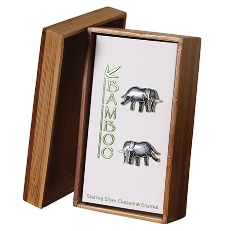 Sterling Silver Safari Elephant Earring
