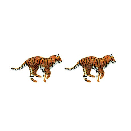Sterling Silver Safari Tiger Earring