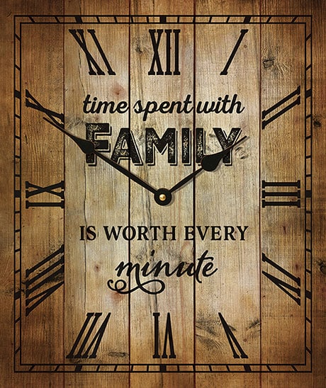 Time Spent With Family Clock