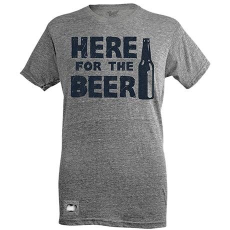 Here For The Beer Bottle Opener T-Shirt