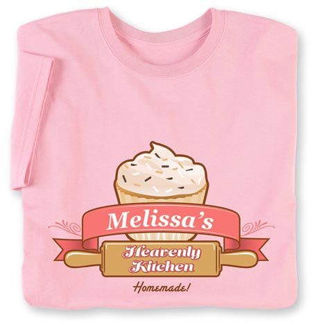 "Personalized ""Your Name"" Heavenly Kitchen Home Baker Shirt"