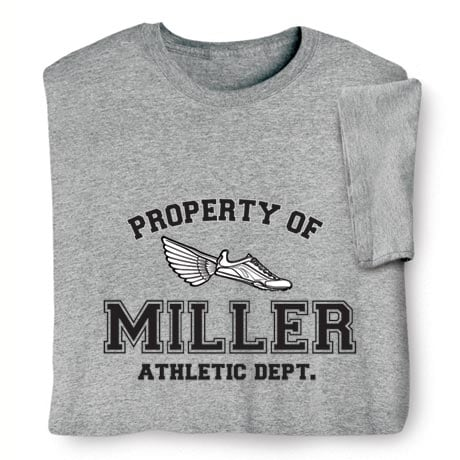 "Personalized Property of ""Your Name"" Track & Field T-Shirt"