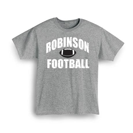 "Personalized ""Your Name"" Football T-Shirt"