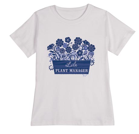 "Personalized ""Your Name"" Plant Manager Gardening Shirt"