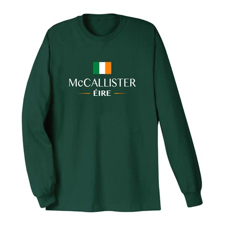 "Personalized ""Your Name"" Irish National Flag Shirt"
