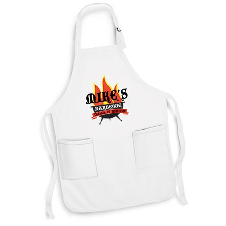 "Personalized ""Your Name"" Barbeque Grillin' Flames Apron"