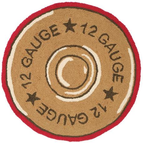 Shotgun Shell Hand-Hooked Rug