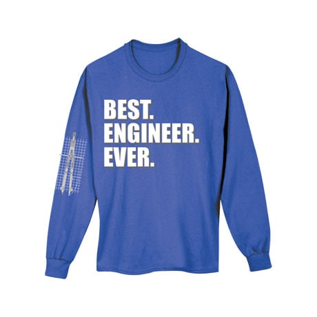Best Ever Professions Long Sleeve Shirts- Engineer