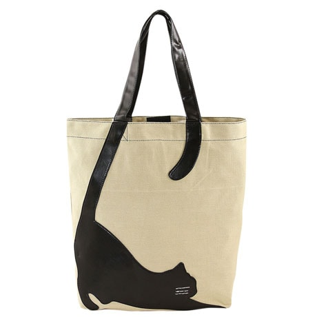 Stretching Cat Animal Tote Bag