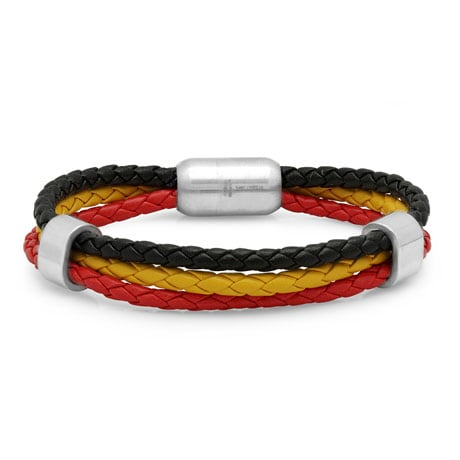 Leather Heritage Flag Bracelets- Germany