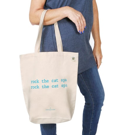 Mistaken Lyrics Tote Bags- Cat Spa