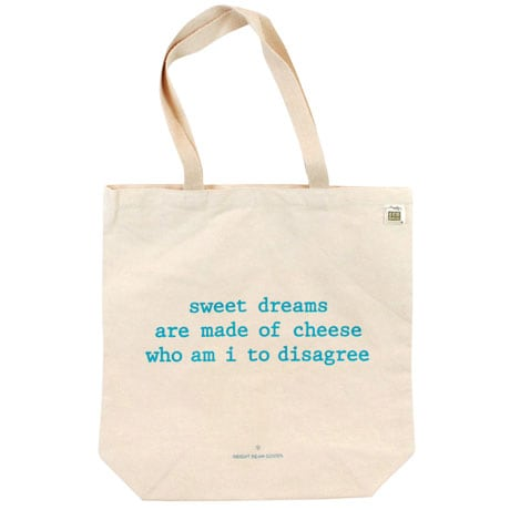 Mistaken Lyrics Tote Bags- Cheese