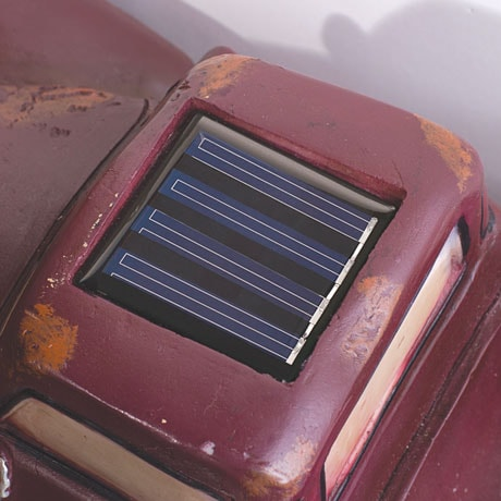 Vintage Red Pick Up Truck Solar Lights