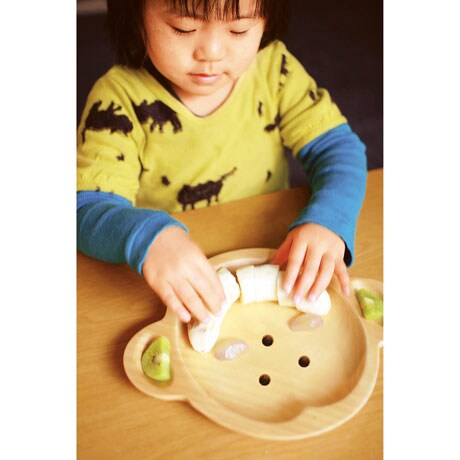 Sustainable Wood Serving Plates- Mama Monkey
