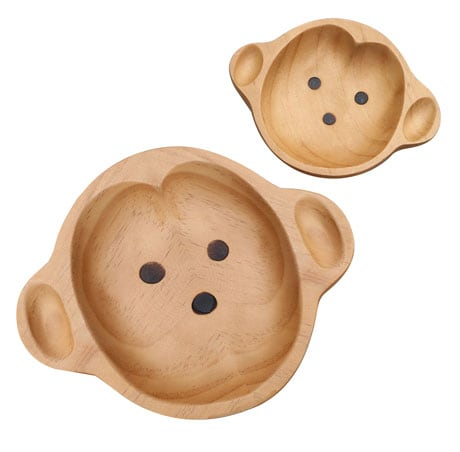 Sustainable Wood Serving Plates- Junior Monkey