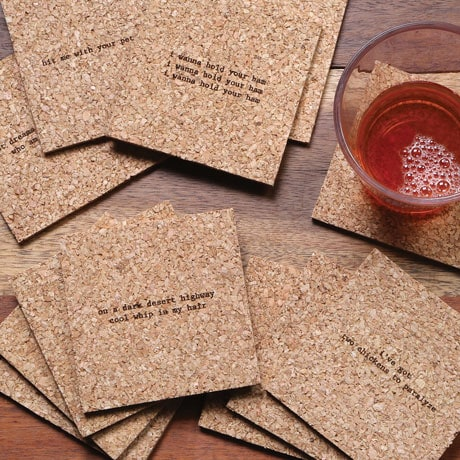 Mistaken Lyrics Coasters Sets- Classic Rock