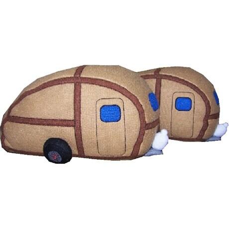 Woody Teardrop Camper Slippers