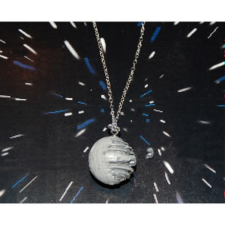 Micro Machine Death Star Necklace