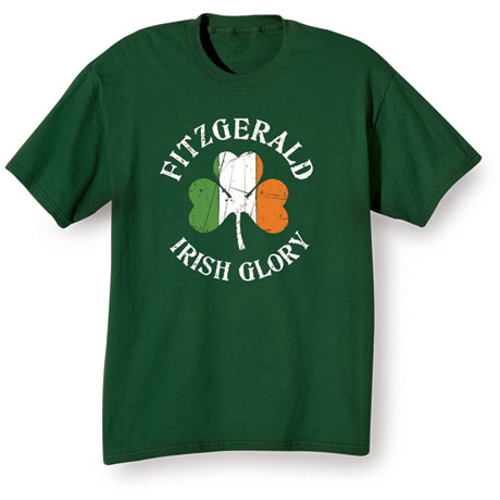 "Personalized ""Your Name"" Irish Glory Shirt"