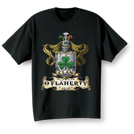 "Personalized ""Your Name"" Irish Family Clan Shirt"