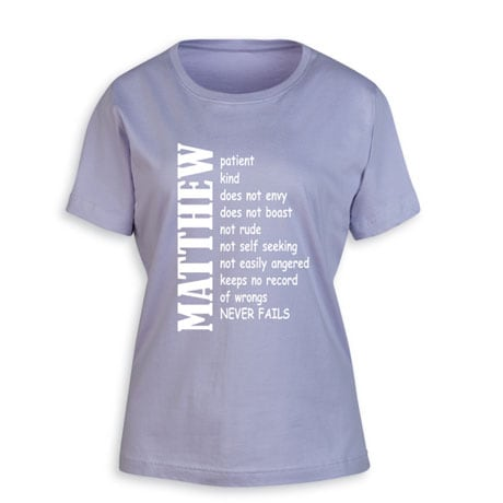 "Personalized ""Your Name"" Positive Attributes Shirt"