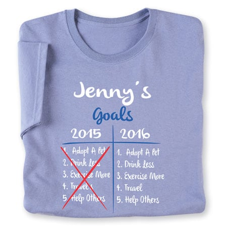 "Personalized ""Your Name""  Goal Shirt - Funny Redo 2015 Goals"