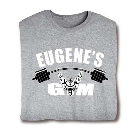 "Personalized ""Your Name""  Goal Shirt - Gym"